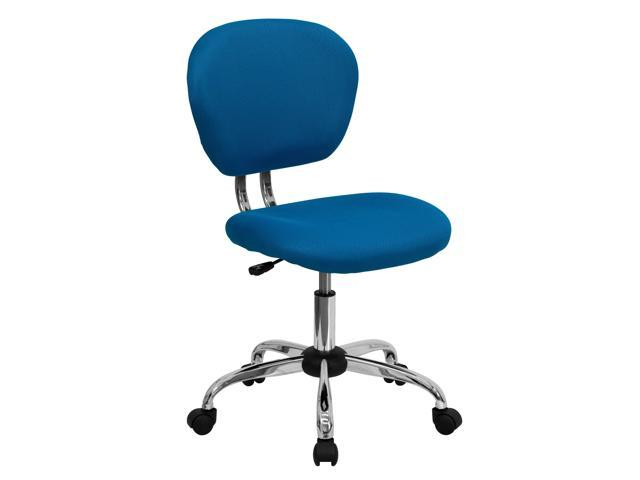 Flash Furniture Mid-Back Turquoise Mesh Task Chair with Chrome Base [H-2376-F-TUR-GG]