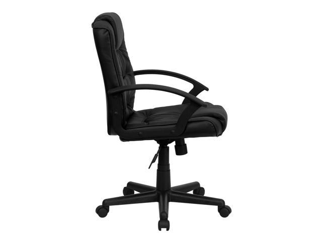 Flash Furniture Mid-Back Black Leather Office Chair [GO-937M-BK-LEA-GG]