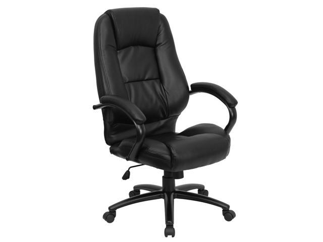 Flash Furniture High Back Black Leather Executive Office Chair [GO-710-BK-GG]
