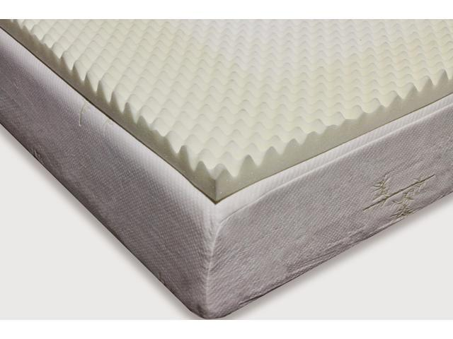 Milliard 2 Inch Egg Crate Ventilated Memory Foam Mattress Topper King