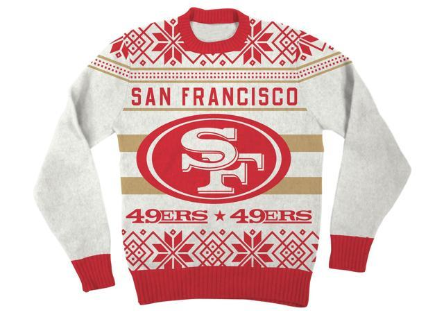 NFL San Francisco 49ers Logo Adult Red Football Ugly Christmas Sweater