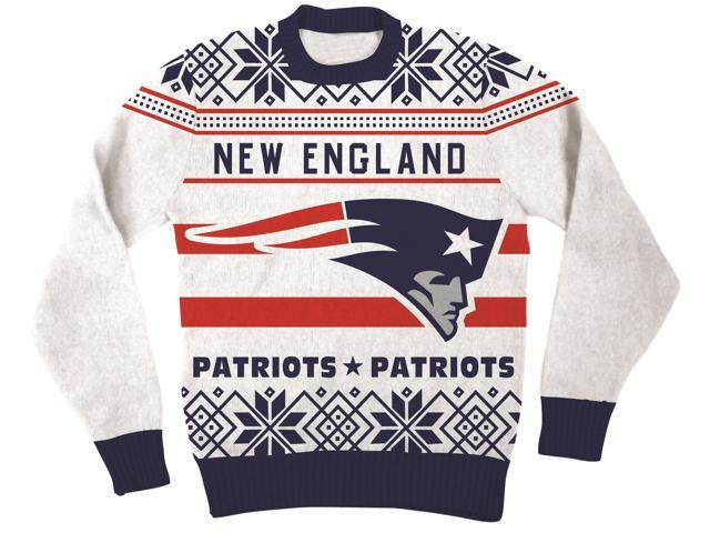 NFL New England Patriots Logo Adult Football Ugly Christmas Sweater