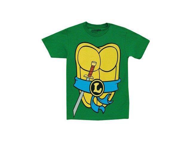 Tmnt teenage mutant ninja turtles leonardo costume green for Green turtle t shirts review