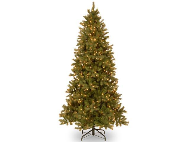 7.5 ft. Downswept Douglas Slim Fir Tree with Clear Lights