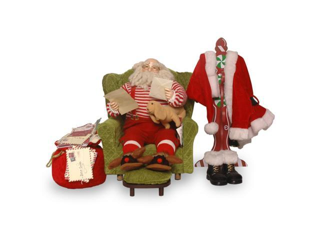 "16"" Plush Collection Sitting Santa with Coat Rack"