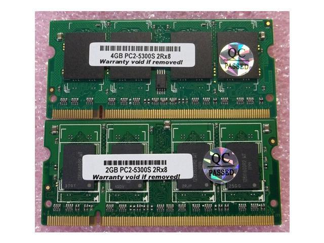 6GB (4GB+2GB) PC2-5300 (DDR2-667MHz) 200 Pins SODIMM Memory Apple MacBook Pro
