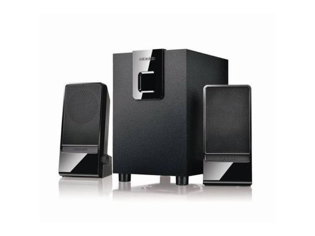 New 2.1 Computer Speaker (Black) 40 Hz - 18 kHz 3.5 mm  4.4 lbs Black