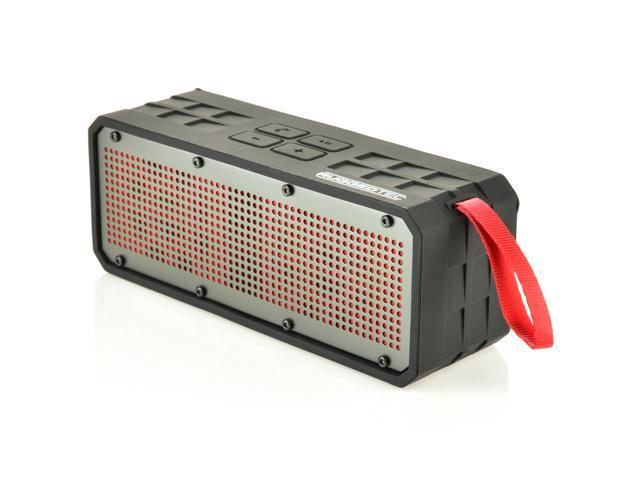RuggedTec RoqBloq Portable Bluetooth Speaker Outdoor Rugged Water Resistant, Dust & Shock Proof (Red)