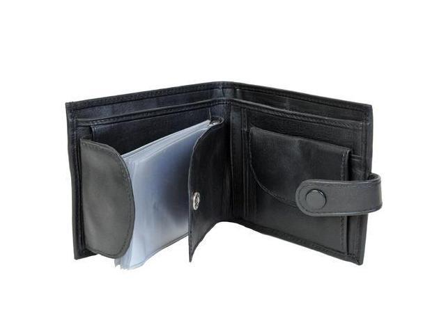 CHAMPS Leather Wallet - Passcase with plastic inserts