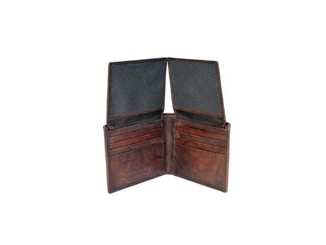 CHAMPS Antique Cow Leather Wallet - Bifold 2 Wings out