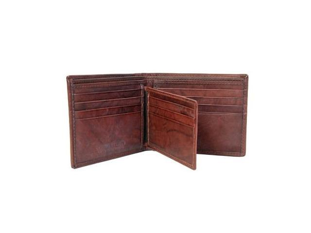CHAMPS Antique Cow Leather Wallet - Bifold w/ removable passcase