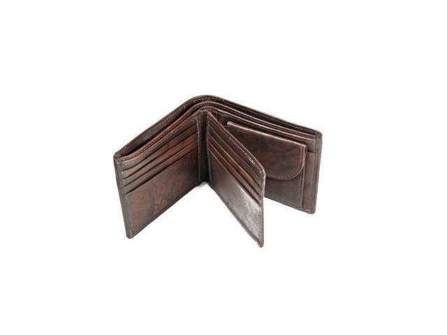 CHAMPS Antique Cow Leather Wallet - Bifold w/ change pocket