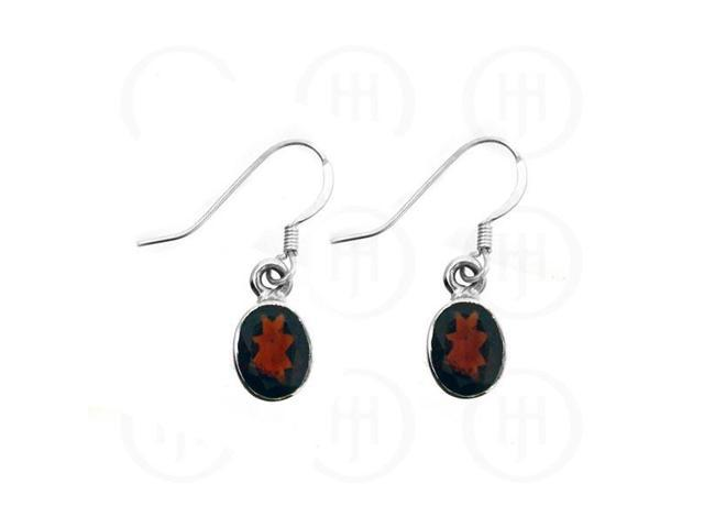 Sterling Silver Stone Earrings Garnet
