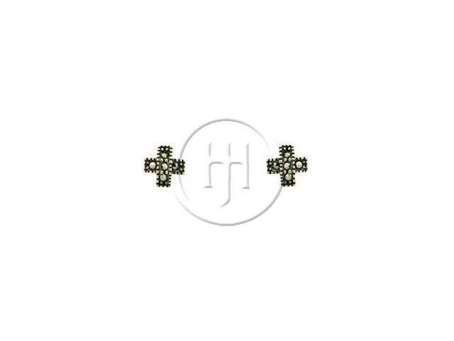 Sterling Silver Marcasite Earrings Stud
