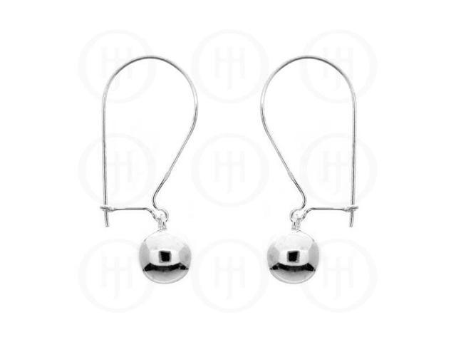 Sterling Silver Dangle Earrings with Ball