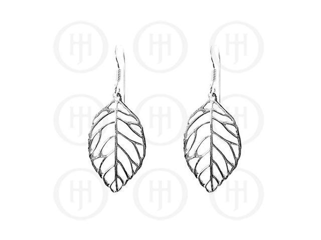 Sterling Silver Dangle Feather Earrings
