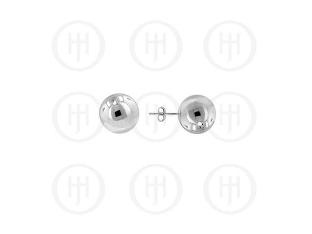 Sterling Silver 6mm Rhodium Plated Ball Stud Earrings