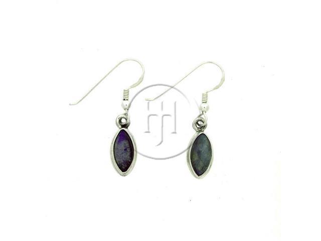 Sterling Silver Stone Earrings Labradorite