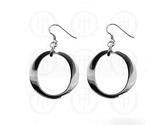 Sterling Silver Dangle Round Earrings