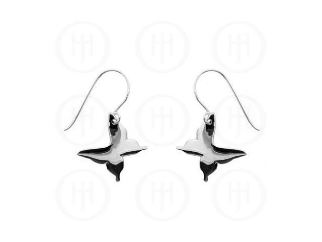 Sterling Silver Dangle Butterfly Earrings