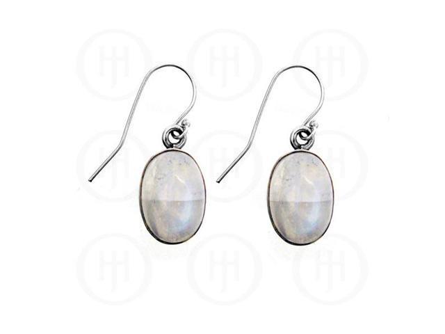 Sterling Silver Stone Earrings Moonstone
