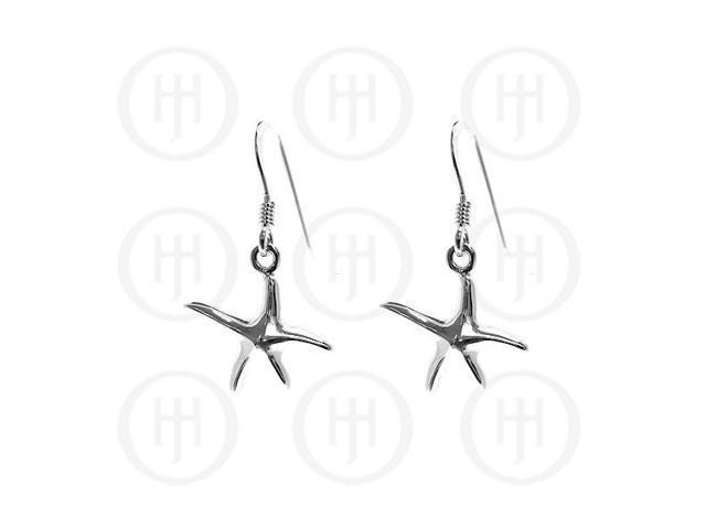 Sterling Silver Dangle StarfishEarrings