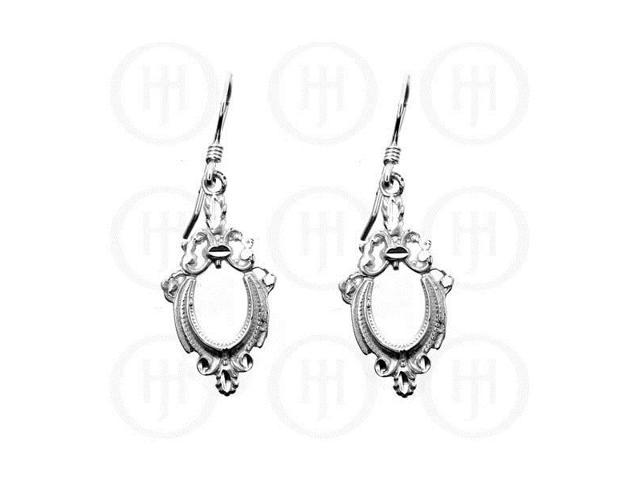 Sterling Silver Dangle D/C Earrings