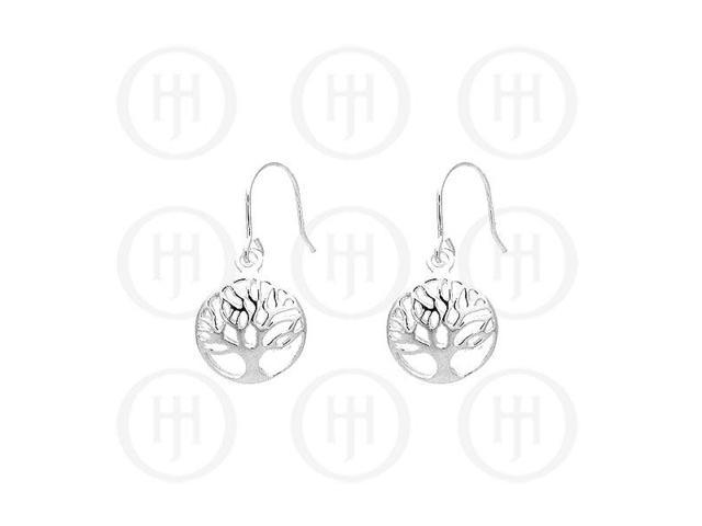 Sterling Silver Dangle Tree of Life Earrings 12mm