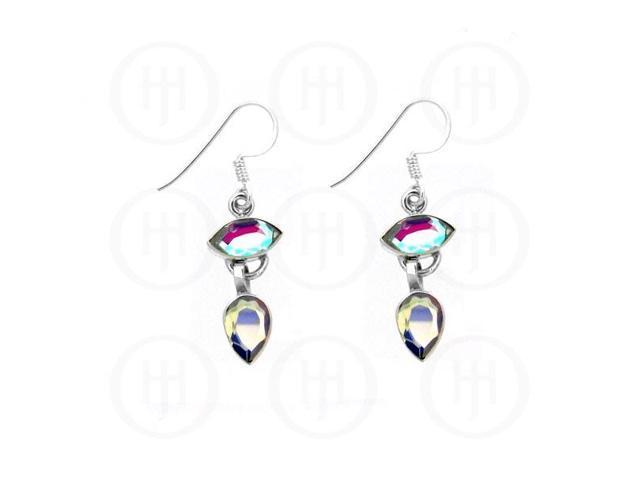 Sterling Silver Stone Earrings Mystic Topaz