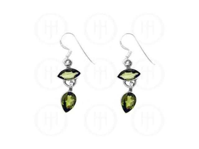 Sterling Silver Stone Earrings Peridot