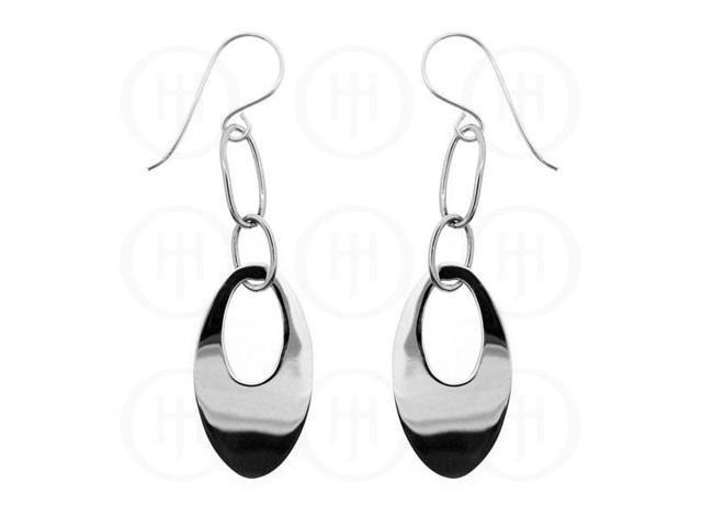 Sterling Silver Link Dangle Earrings