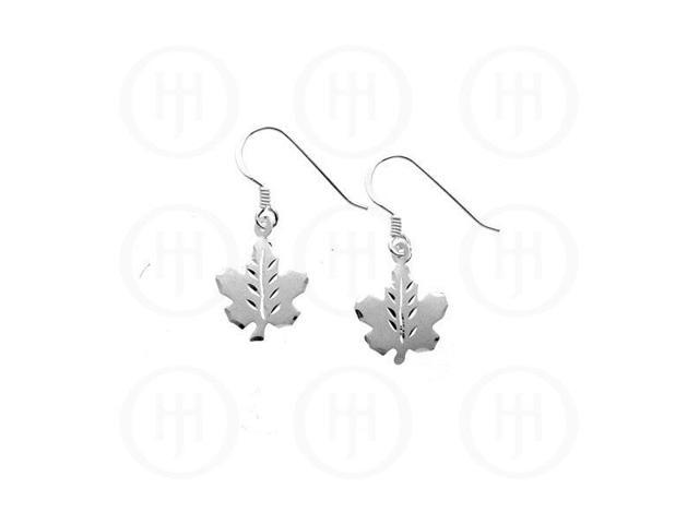 Sterling Silver Dangle Earrings Canadian Maple Leaf