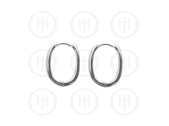 Sterling Silver Earrings Plain Huggies Earring