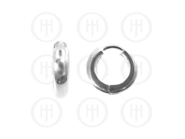 Sterling Silver Earrings Plain Huggies Earring 16.5mm