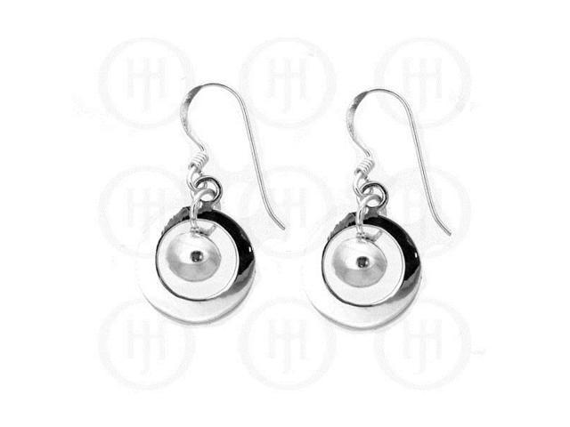 Sterling Silver Dangle Ball Earrings 14mm