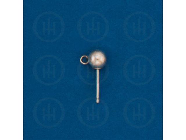 Sterling Silver Finding Ball Earrings