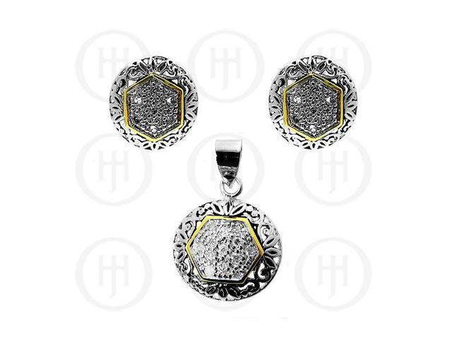 Sterling Silver Earrings Pendant Set