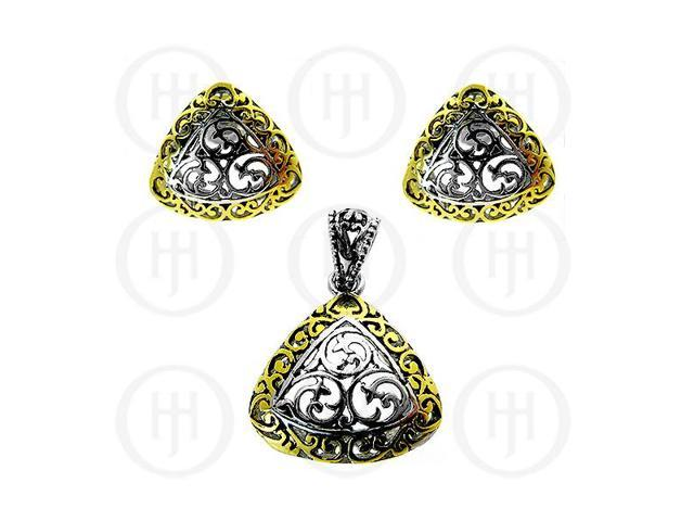 Sterling Silver Earrings Pendant Set
