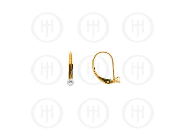 14K Gold Earrings Snap Leverback 3mm