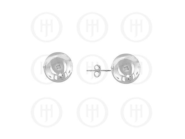 14K White Gold Earrings Ball Stud 8mm