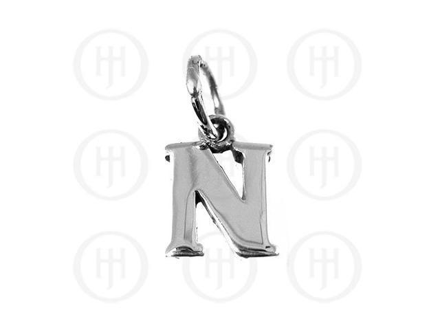 Sterling Silver Letter N  Alphabet-Number Charm