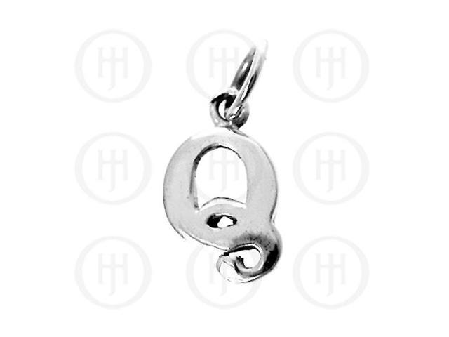 Sterling Silver Letter Q  Alphabet-Number Charm
