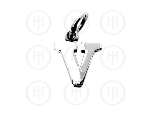 Sterling Silver Letter V  Alphabet-Number Charm
