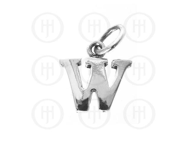 Sterling Silver Letter W  Alphabet-Number Charm