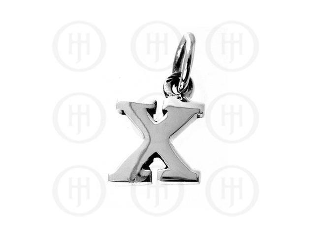 Sterling Silver Letter X  Alphabet-Number Charm