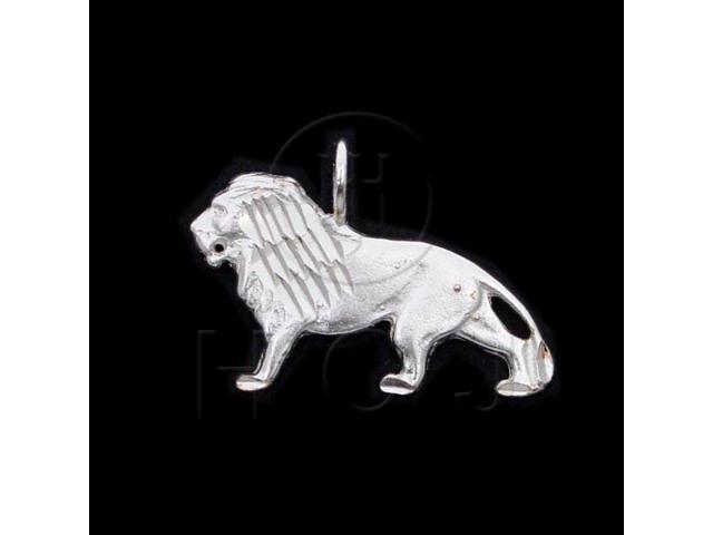 Sterling Silver DiamondCut Animal Charm Lion