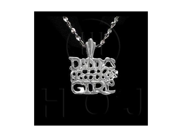 Sterling Silver DiamondCut Talking Charm Daddy's Little Girl