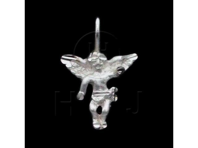 Sterling Silver DiamondCut Religious Charm Angel