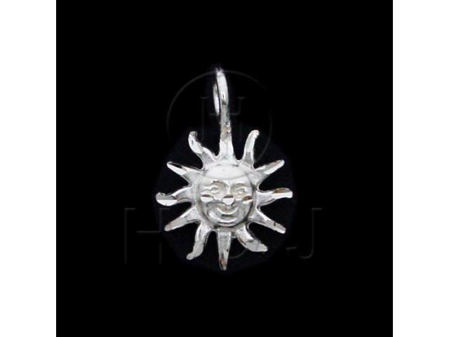 Sterling Silver DiamondCut Nautical Charm Sun Face