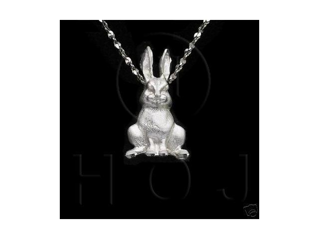 Sterling Silver DiamondCut Animal Charm Rabbit